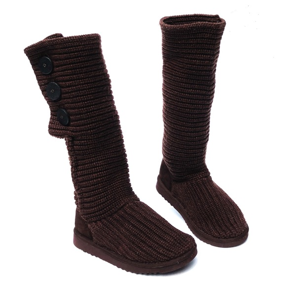 UGG Shoes - UGG Australia Cardy Knit Button Tall Sweater Boot